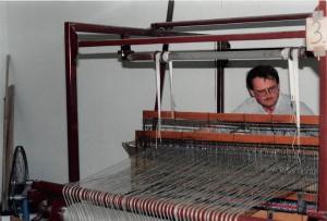 Mein Bruder Bernhard führte auch einige Jahre den Betrieb-1989 1.Webhallenbau